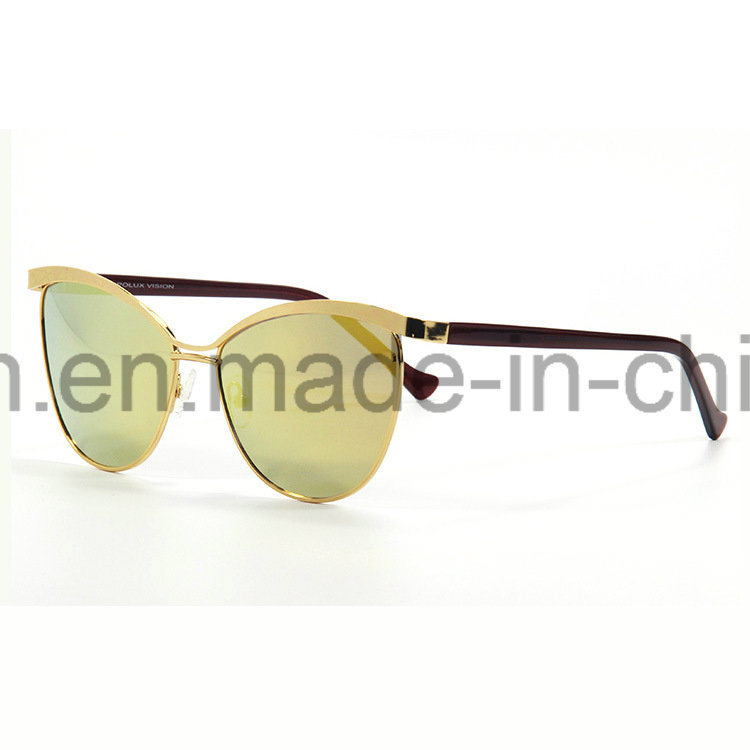 Fashionable Mirror Lens Eye Cat Polarized Sunglasses