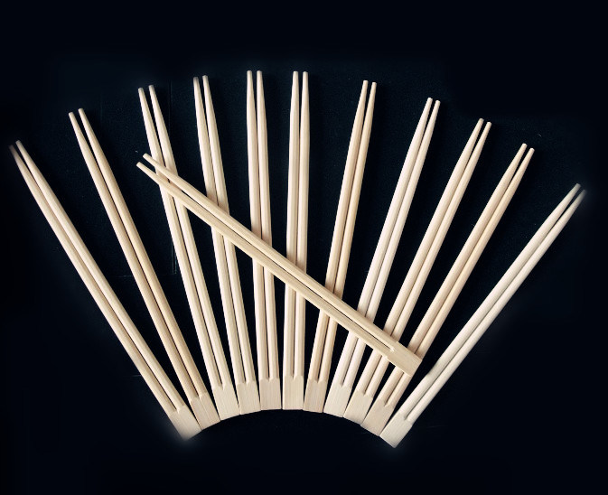 Disposable Bamboo Chopsticks with Color Printing Paper Cover