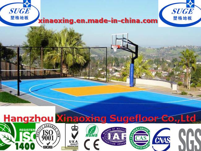 Sport Court Flooring RoHS, DIN Standard Basketball Sports Floor