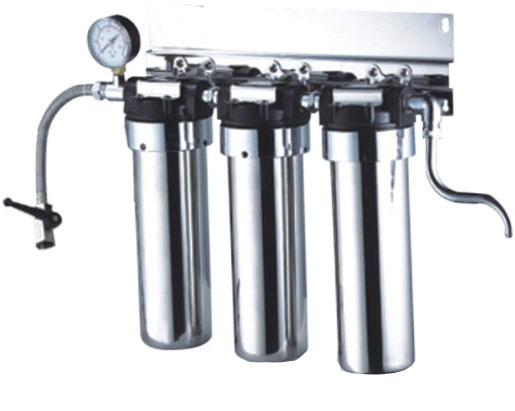 Stainless Steel Water Filter with Pressure Guage (RY-SS-6)
