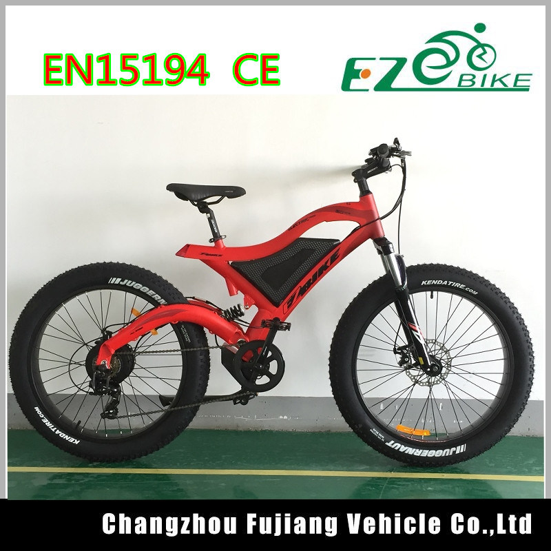 26X4.0 Fat Tire Electric Bike with Full Suspension Fork