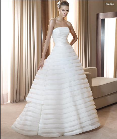 Elegant White Ivory Bridal Dress Wedding Gown Dress Custom Size LB1915