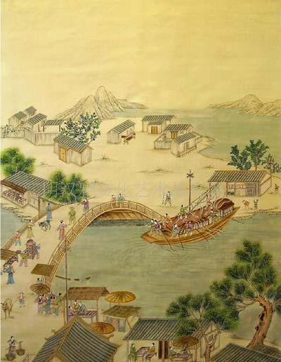 HandPainted Wallpaper CHINOISERIE04