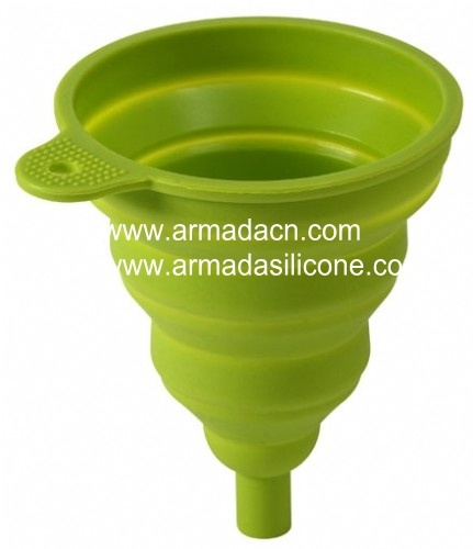 RSVP Collapsible Silicone Funnel Green (FUN GR)