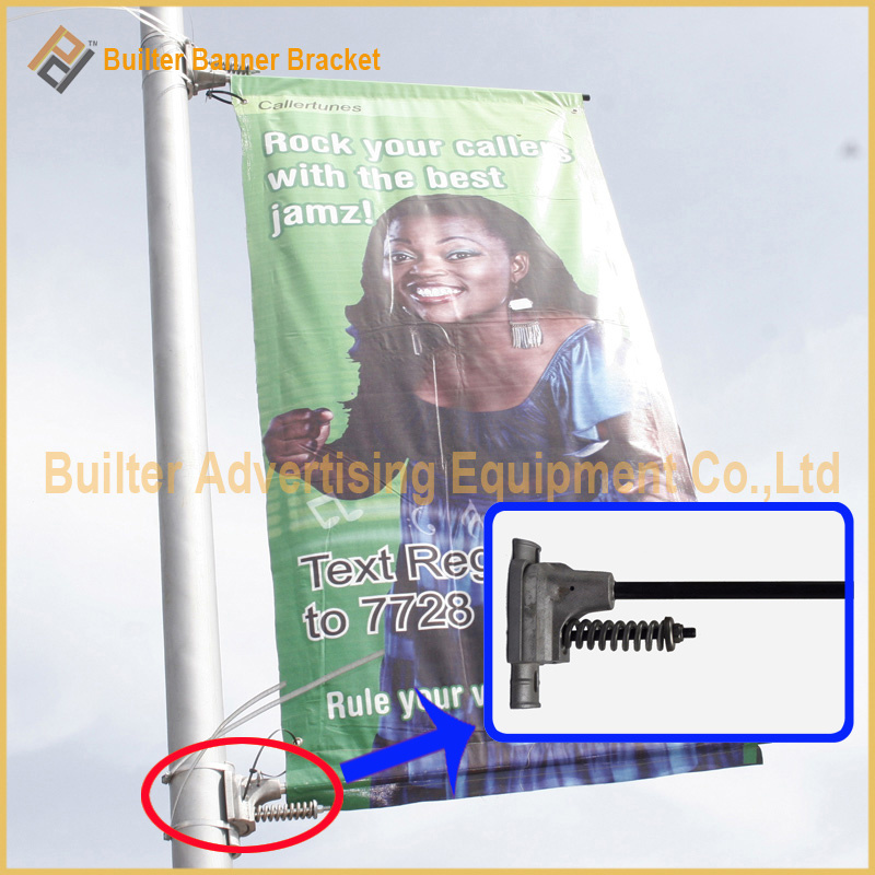 Metal Street Pole Advertising Banner Base (BT-BS-004)