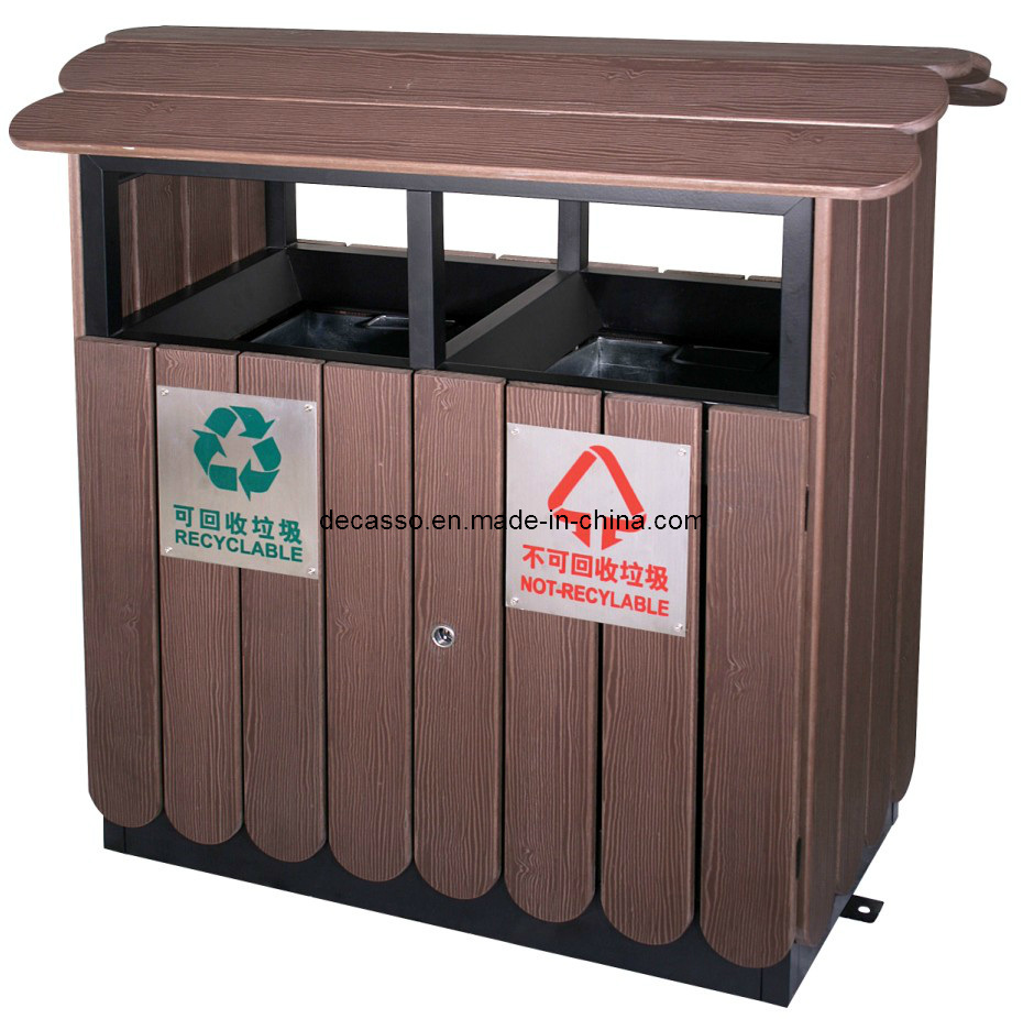Eco Friendly WPC Classified Outdoor Waste Bin (DL36)