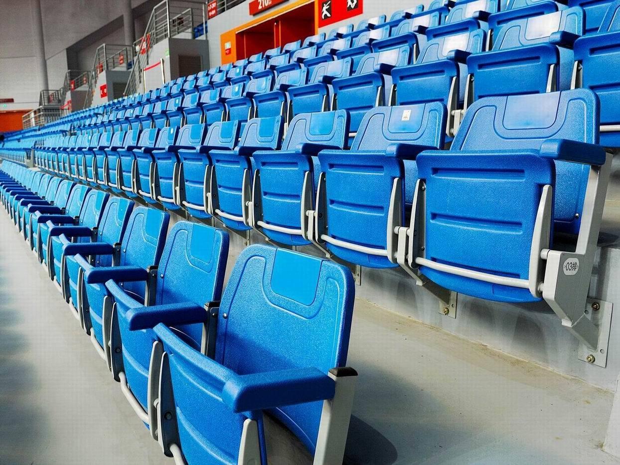 Stadium Seats Product : China blow plastic folding stadium chair with armrest cs