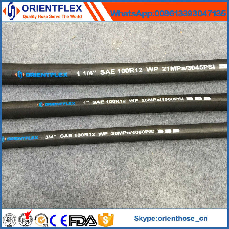Flexible Rubber Hydraulic Pipe (SAE 100 R12)