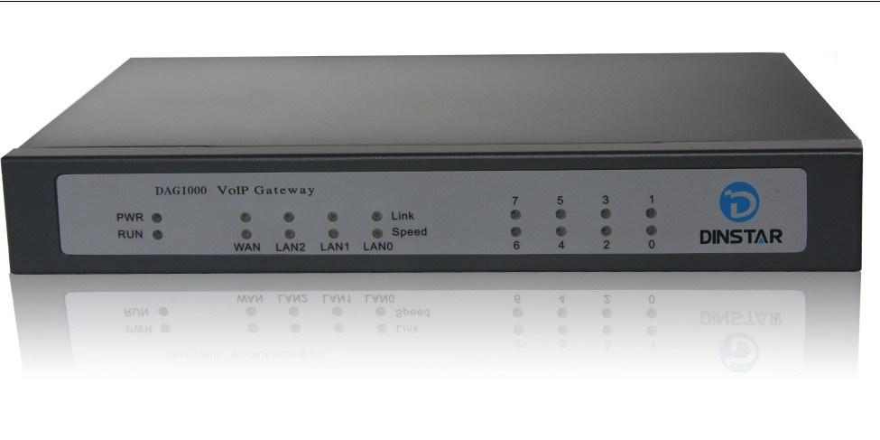 8 Ports FXO Gateway (DAG1000-8O)