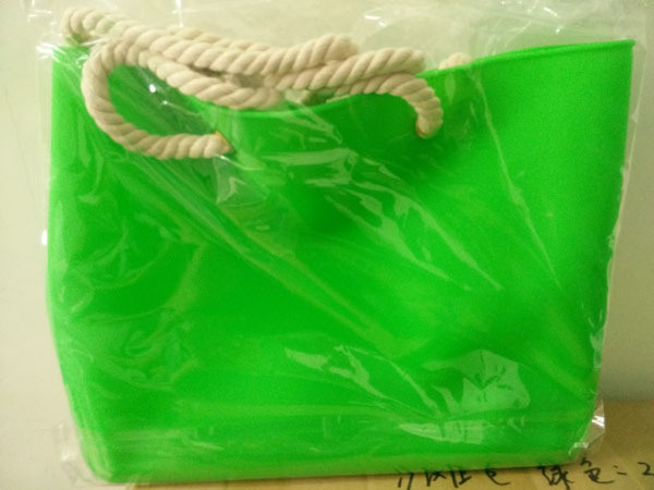 Silicone Bag with Rope Handles, Available in Different Colors