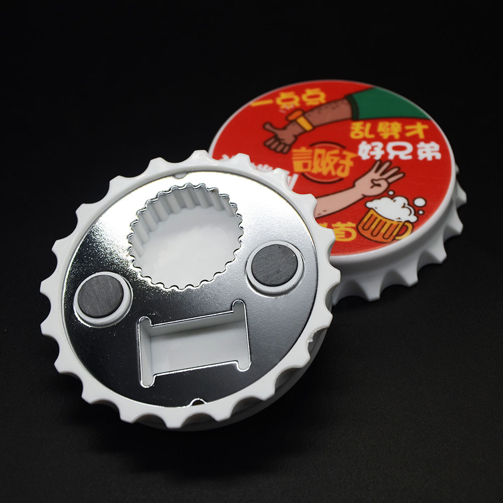 8cm Custom Design High Quality Magnetic Can Opener Beer Bottle Opener