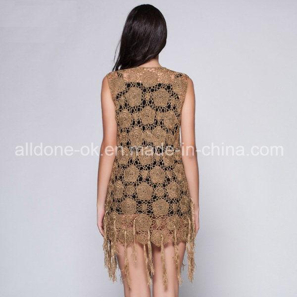 Ladies Girls Tassel Ice Silk Crochet Dresses Hand Handmade Croche