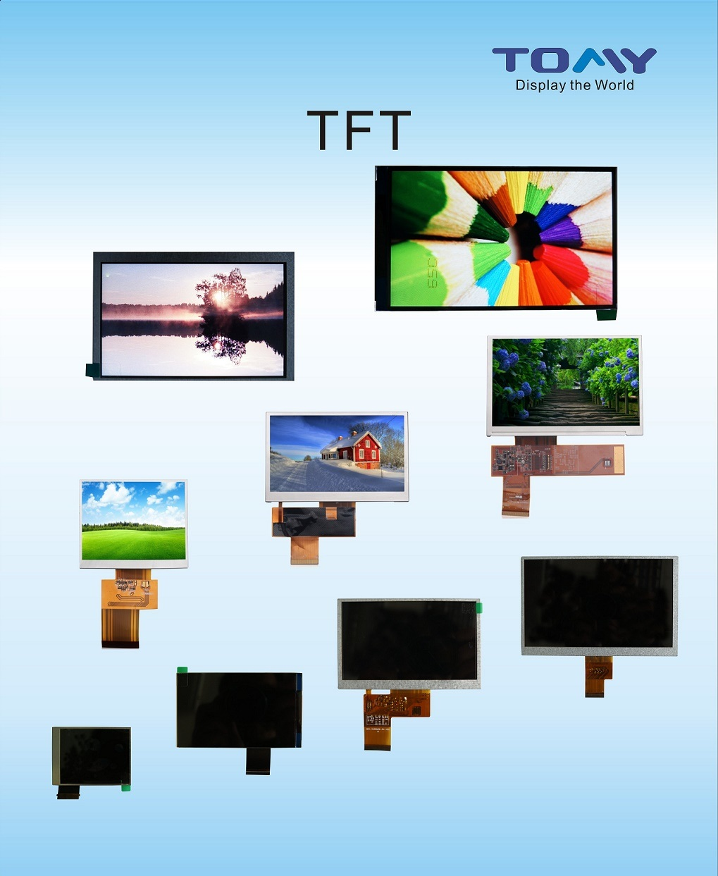 """1.54""""-12.1"""" TFT LCD/LCM Hot Sale"""