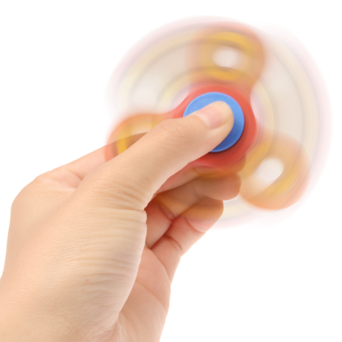 Fidget Toy Stress Relief Anxiety Autism Red Hand Spinner