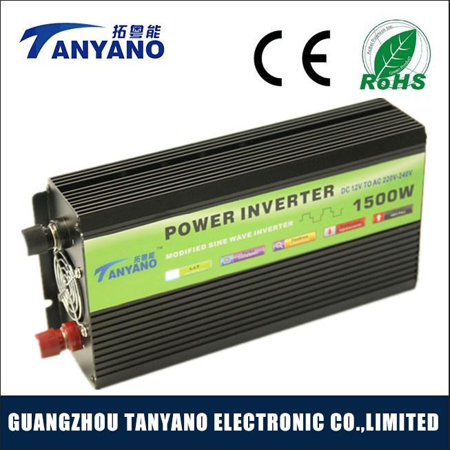 Higher Quality Black 1500W DC to AC Power Inverter