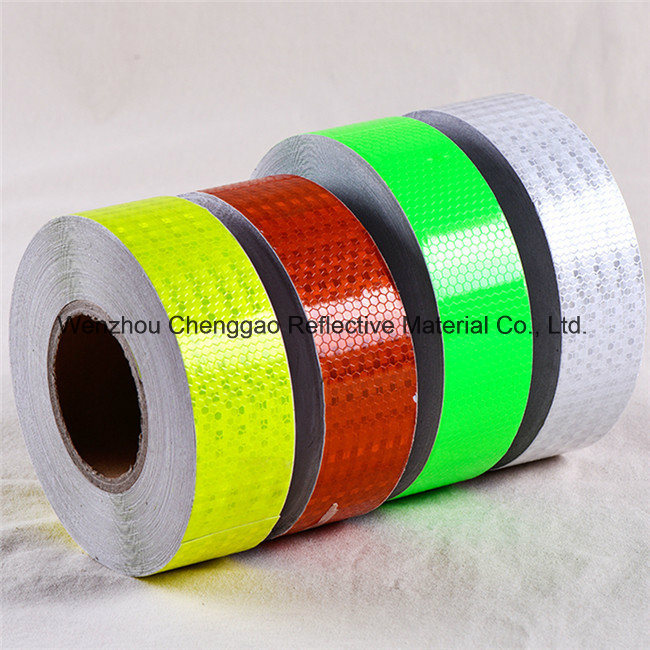 High Visibility PVC Reflective Adhesive Tape with Crystal Lattice (C3500-O)