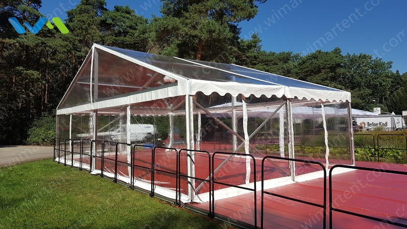 8X60m Modular Structure Marquee with Clear Sidewalls in Europe