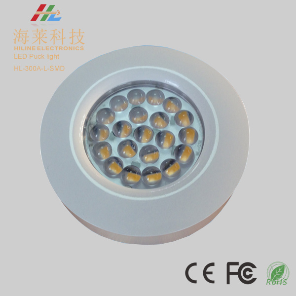 2.6W Dimmable 12VDC LED Cabinet Light Puck Light