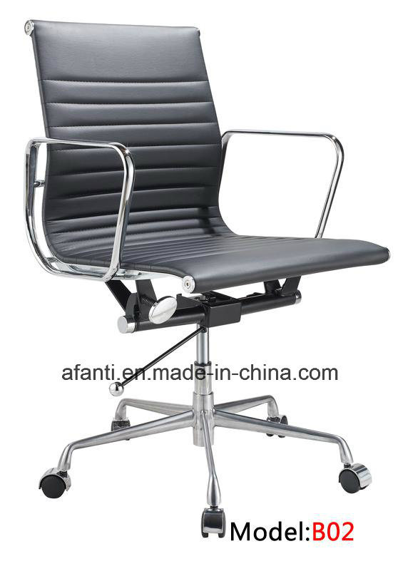 Modern Furniture Eames Swivel Aluminum Hotel Office Leather Chair (RFT-B02)