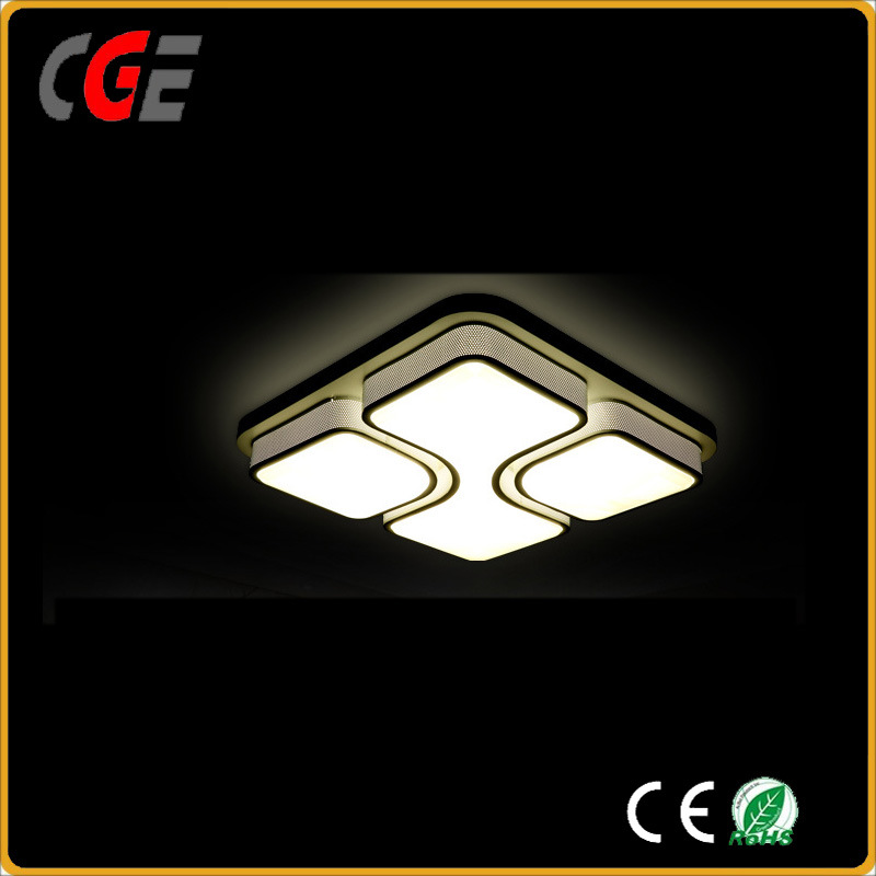 White Acrylic Ceiling Lamp with Decorative Pattern for Household