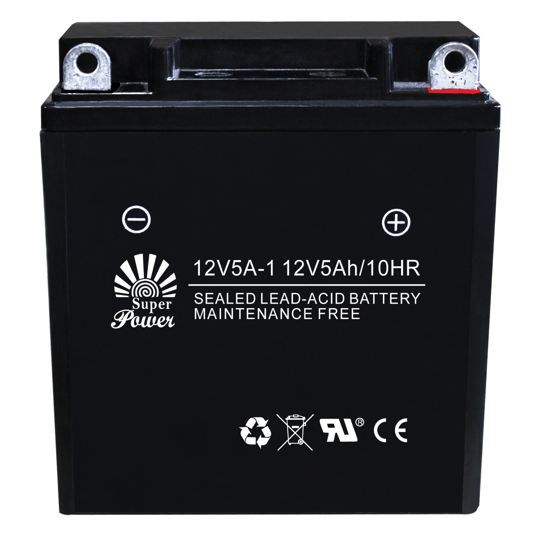 AGM Sealed Maintenance Free Motorcycle Battery with Different Capacity From 12V 2.5ah 4ah 5ah 7ah to 9ah with CE UL certificate