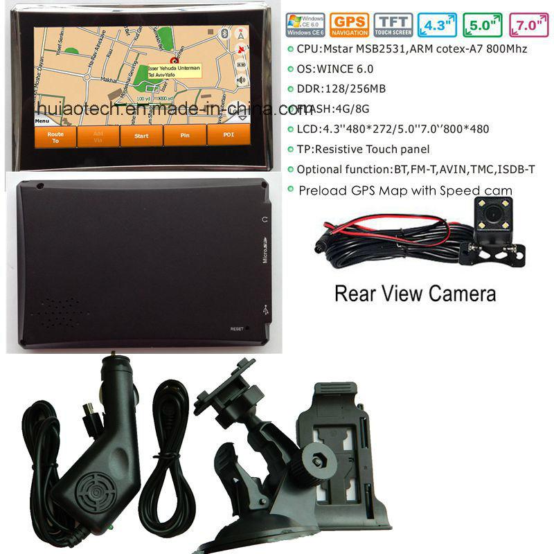 Hot Sale 4.3inch HD Definition Vehnicle Car Truck GPS Navigation with 128MB DDR; 4GB Flash FM Transmitter, Portablet GPS Navigator G-4311