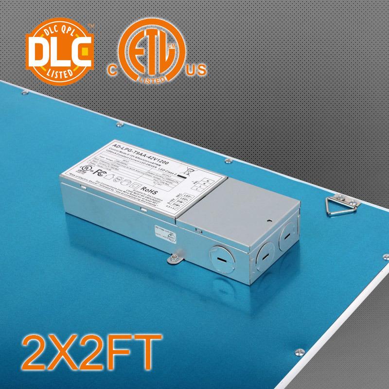 100/130lpw 2X2/1X4/2 X 4 Square LED Panel Light for Na Market