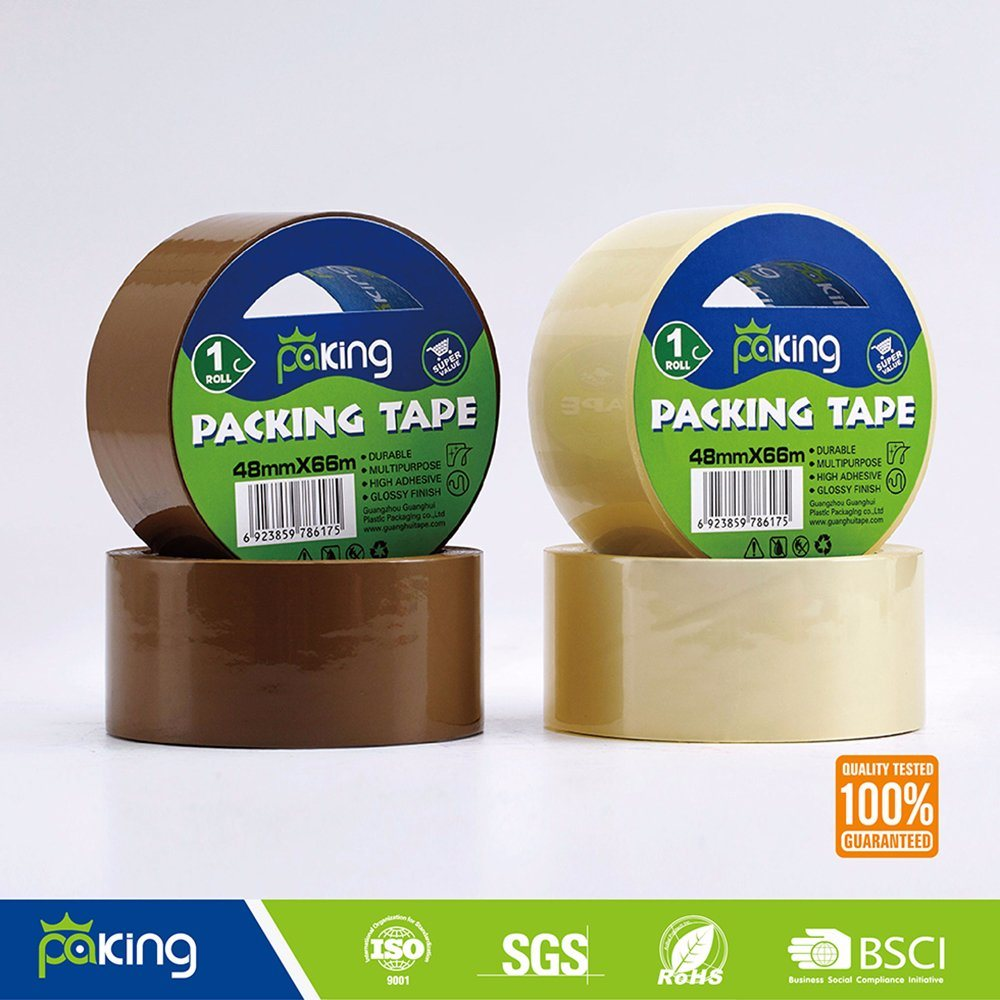 36 Rolls Per Carton Tan BOPP Adhesive Packaging Tape
