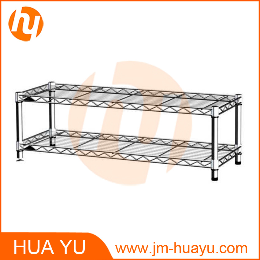 Two Tier Square Wire Shelving/Wire Stand/Wire Rack