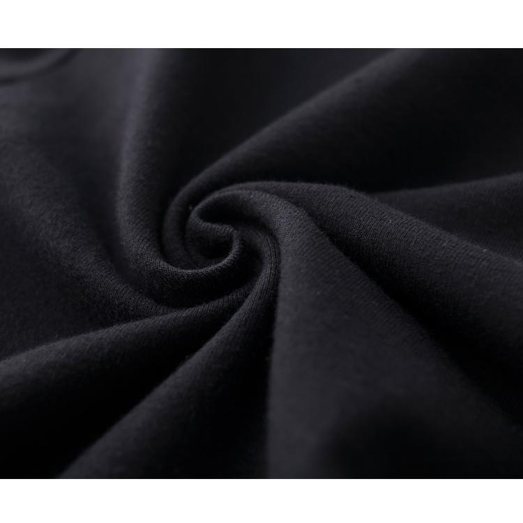 Dropship Women Cotton in Plain Black Round Neck Basic T Shirt