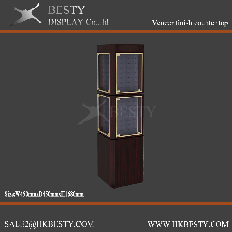 Stylish Jewelry Display Showcase with LCD Lighting Box
