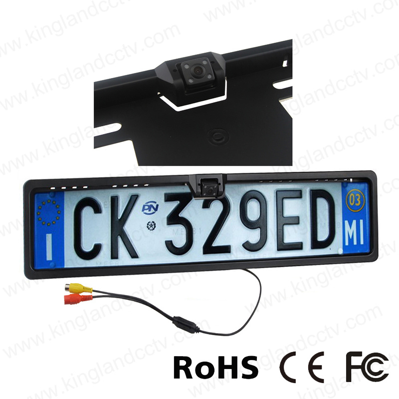 EU European Car Licence Plate Rear View Camera 170 Degree angle
