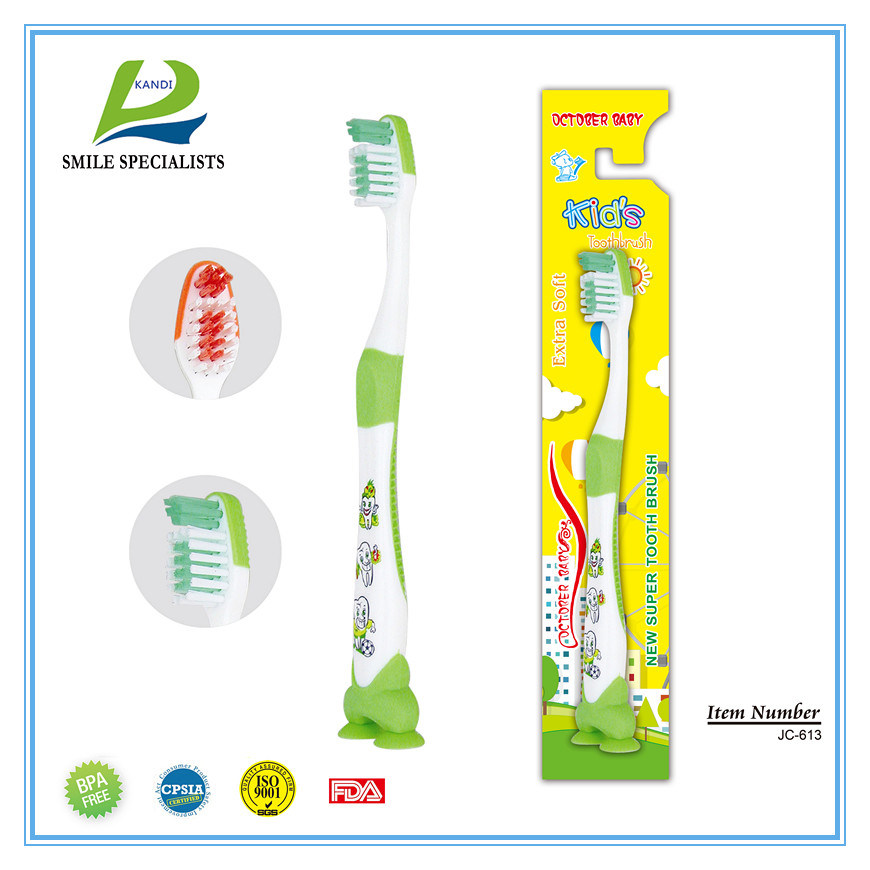 Kid Tooth Brush with Two Small Suction Buttons