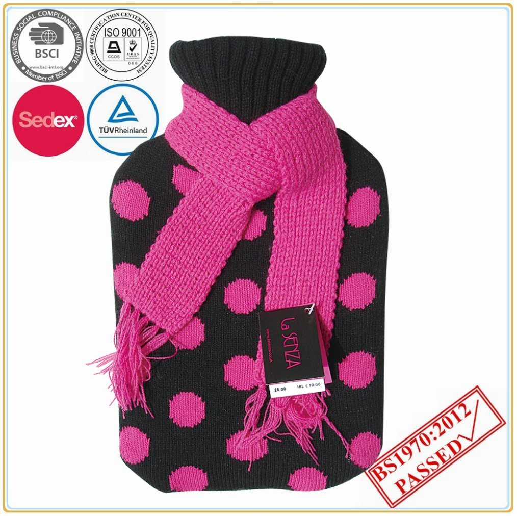 Hot Water Bottle Cover with Scarf