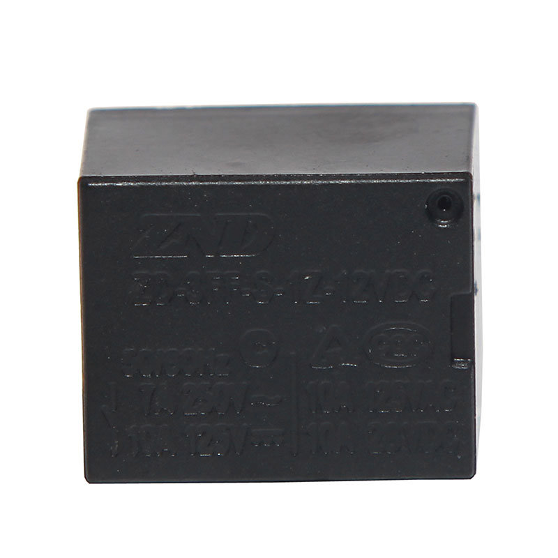 3FF (T73) 7A 12V Power Relay Black Cover Electromagnetic Relay