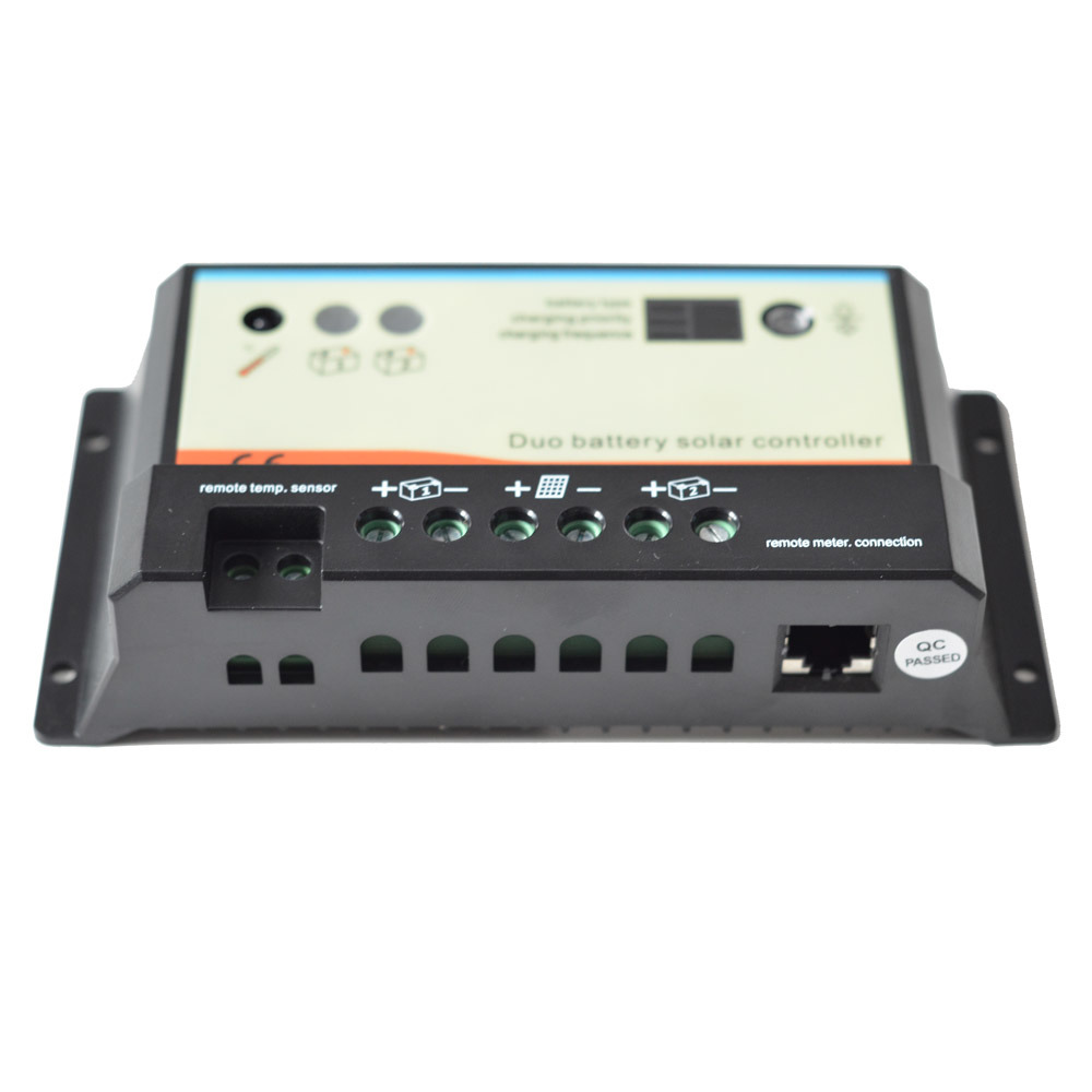 10A 12V/24V Epever Solar Controller/Regulator with Duo-Battery Charger dB-10A