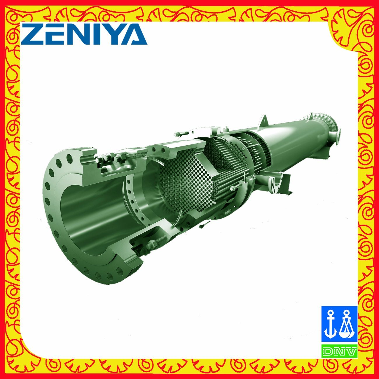 High-Quality Copper Tube Heat Exchanger for Industey