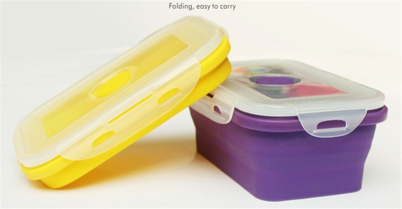 Food Grade Foldable Silicone Lunch Box