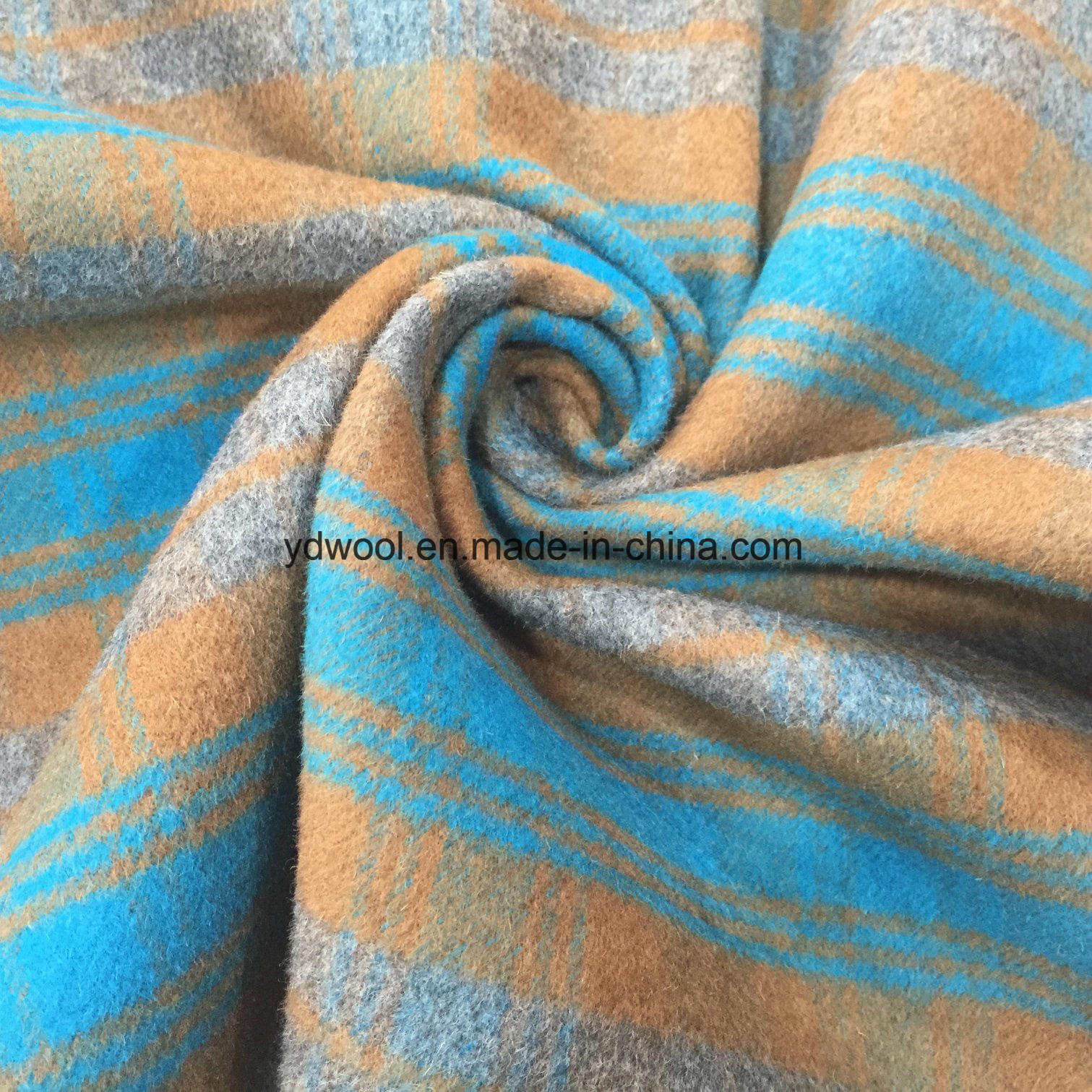 Stock Wool Fabric Double Face Check