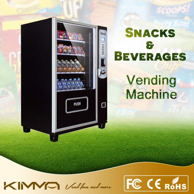 Small Size Beverage and Candy Bar Vending Machine with Coin Acceptor
