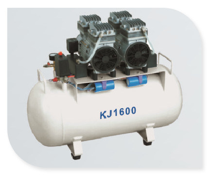 Ce/ISO Approved Hot Sale Medical Dental Oil-Free Air Compressor Kj-1600)