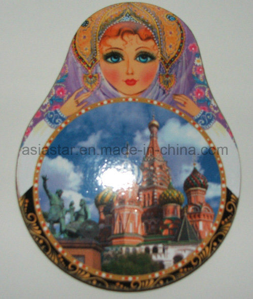 Russian Dolls Shape 4color Printed Cork Coaster