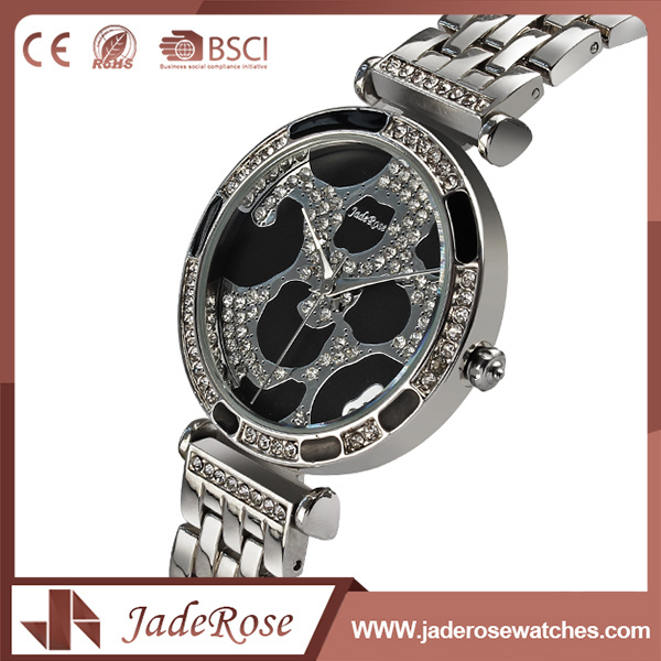 Classic Style Folding Clasp Silver Stainless Steel Watch