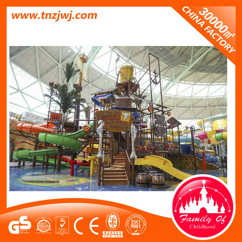 Eco-Friendly Outdoor Playgorund Equipment Water Park with Slide