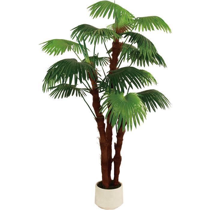 Green Color Artificial Fan Palm Tree