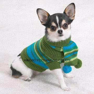 Warm Pet Sweater and Scarf Set, Dog Coat Clothing