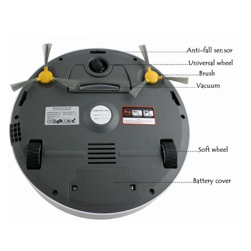 No LCD Intelligent Robot Vacuum Cleaner for Home, Auto Charge & Clean, HEPA Filter, UV Lamp, Sensor, Cleaning Smart Vacuum Cleaner