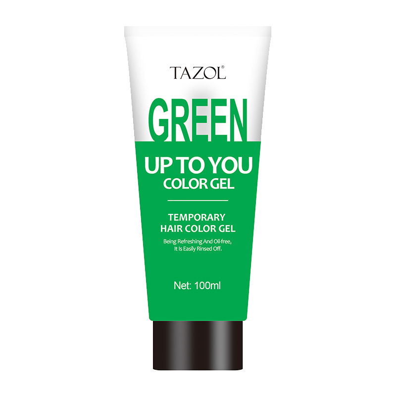 Tazol Temporary Hair Color Gel with Green Color 100g
