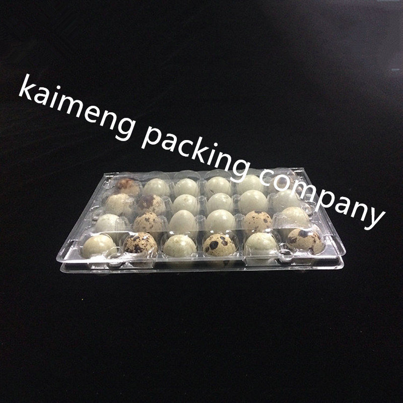 China Manufacture Offer Clear Plastic PVC Quail Egg Trays in 30PCS Holes (plastic egg tray)