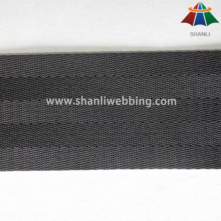 2 Inch Black Nylon Seat Belt Webbing